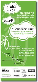 El 5 de juny, Dia Mundial del Medi Ambient, apaga el motor i agafa la bicicleta
