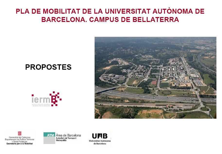 El BACC participa en el Pla Director de Mobilitat de la Universitat Aut