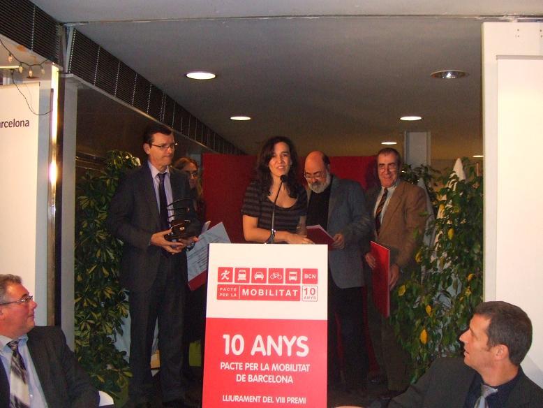 Bicicampus rep el Premi Pacte per la Mobilitat 2008