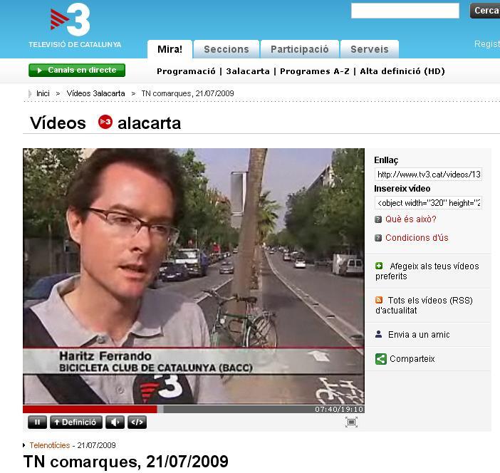 TV3 recull la proposta del BACC per als pressupostos participatius de Terrassa