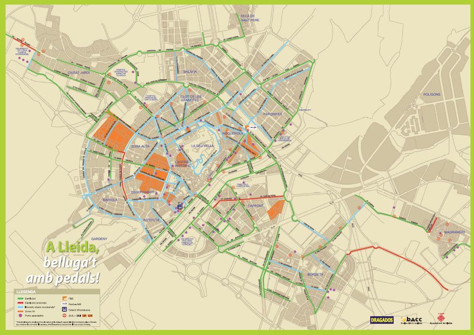BACC Lleida aconsegueix que La Paeria editi una guia per la bicicleta