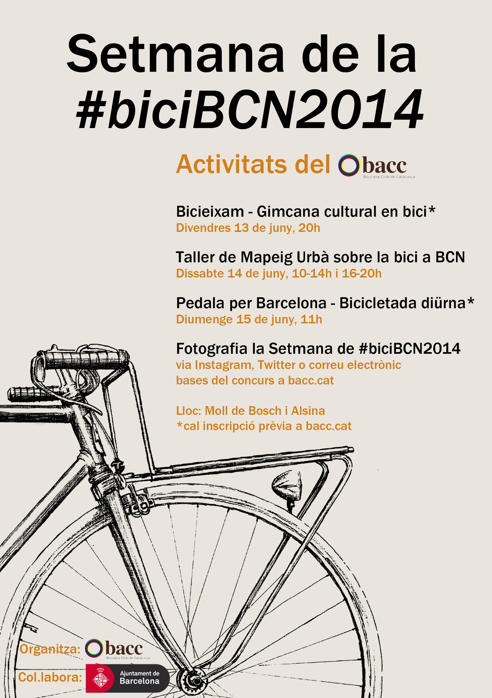 Participa en les activitats de la Setmana de la #biciBCN2014 organitzades pel BACC