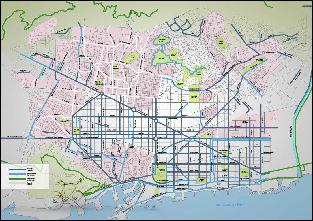 Mapa bicicleta Barcelona 2015