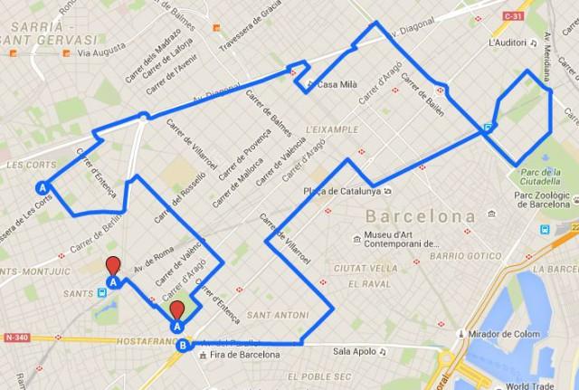 Itinerario propuesto