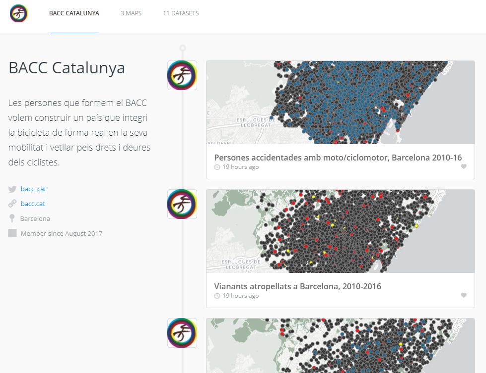 Mapes d'accidentalitat a Barcelona