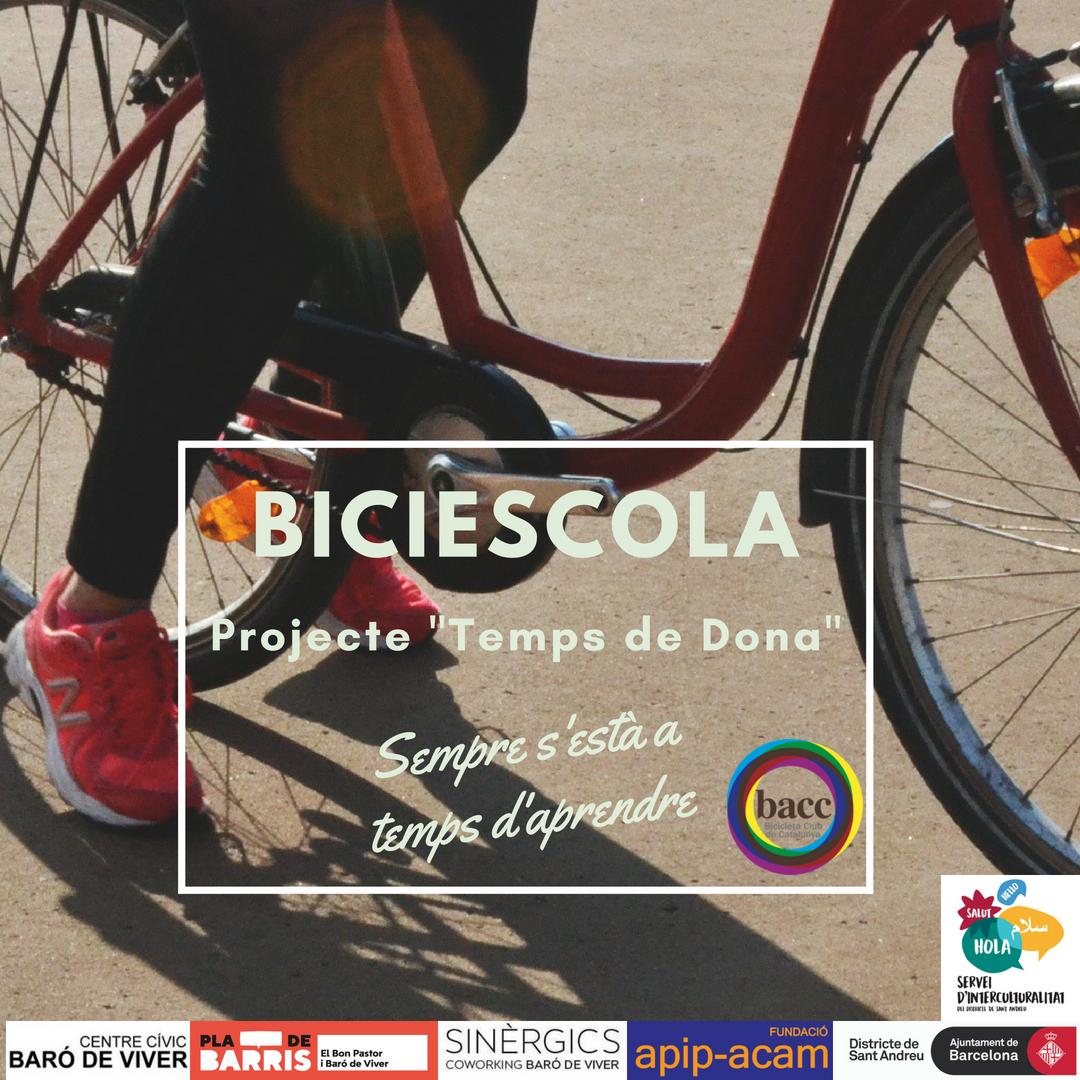"""Curs de Biciescola – Projecte """"Temps de Dona""""."""