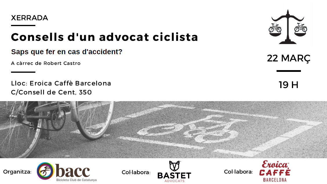 Xerrada: Consells d'un advocat ciclista