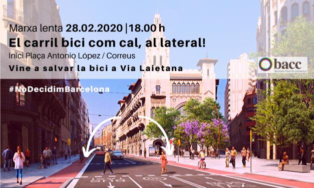 Adhereix-te a la manifestació ciclista: Vine a salvar la bici a Via Laietana!