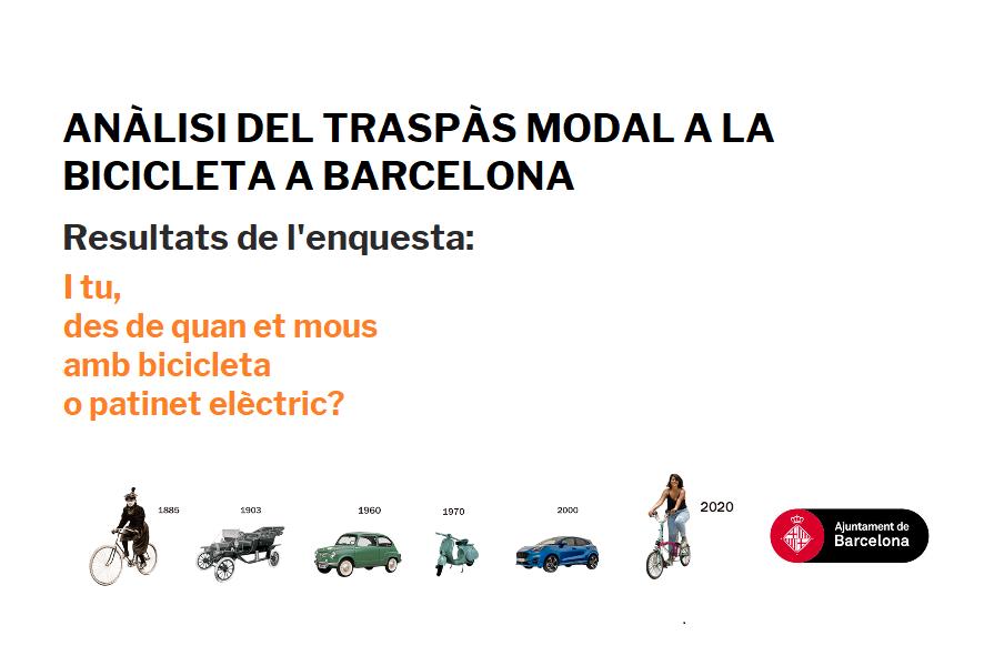 Resultats de l'enquesta: I tu, des de quan et mous amb bicicleta o patinet elèctric?